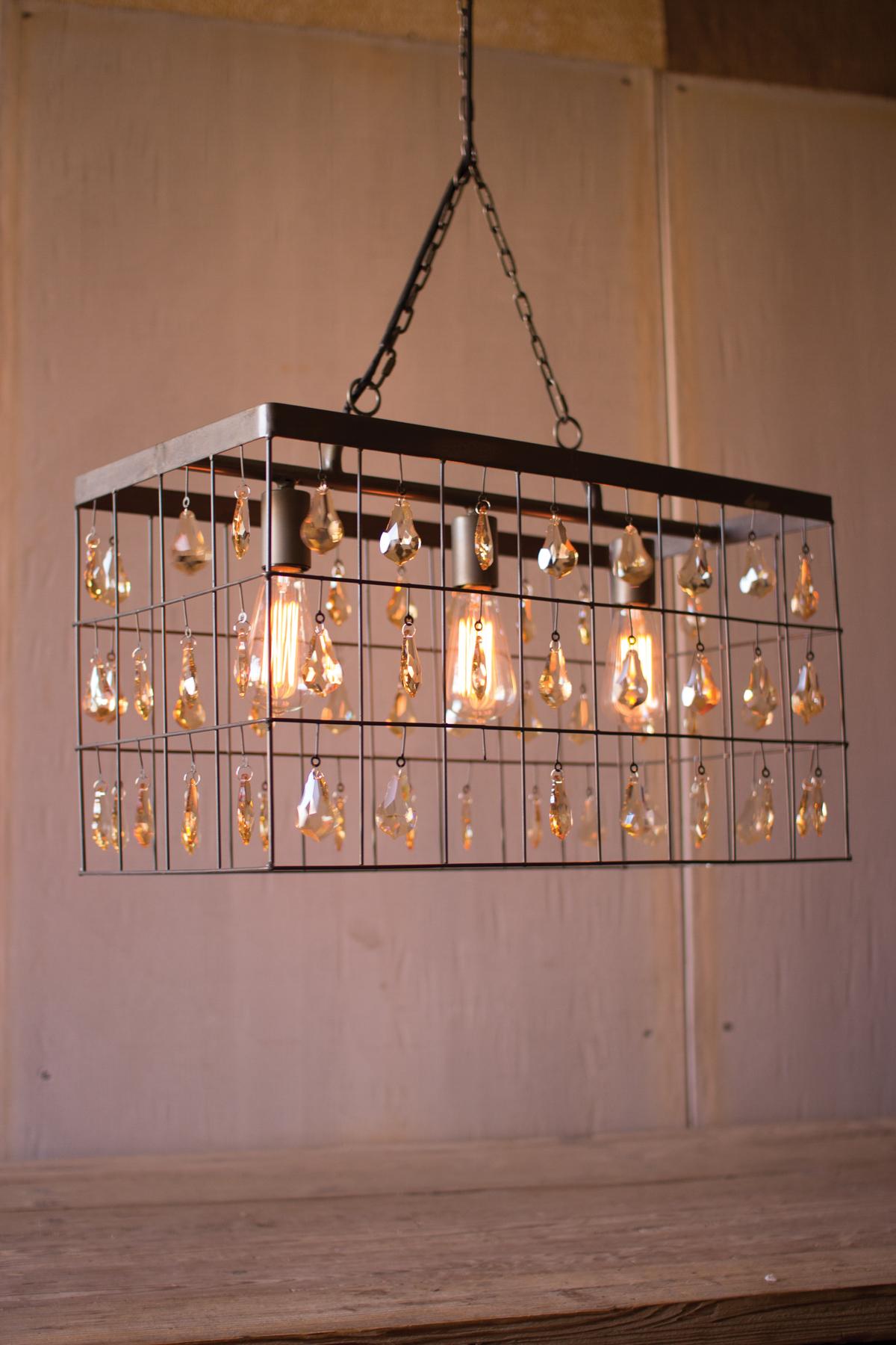 Rectangle pendant light wamber glass gems large rectangle pendant light wamber glass gems mozeypictures Gallery